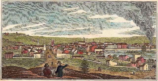 Вид с севера на Трой с горы Олимпус