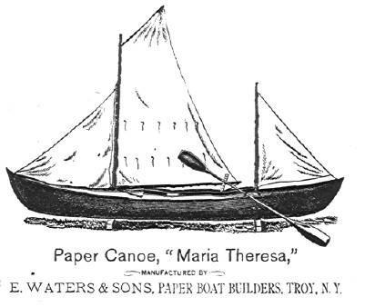Бумажное каноэ Бишопа Мария Тереза
